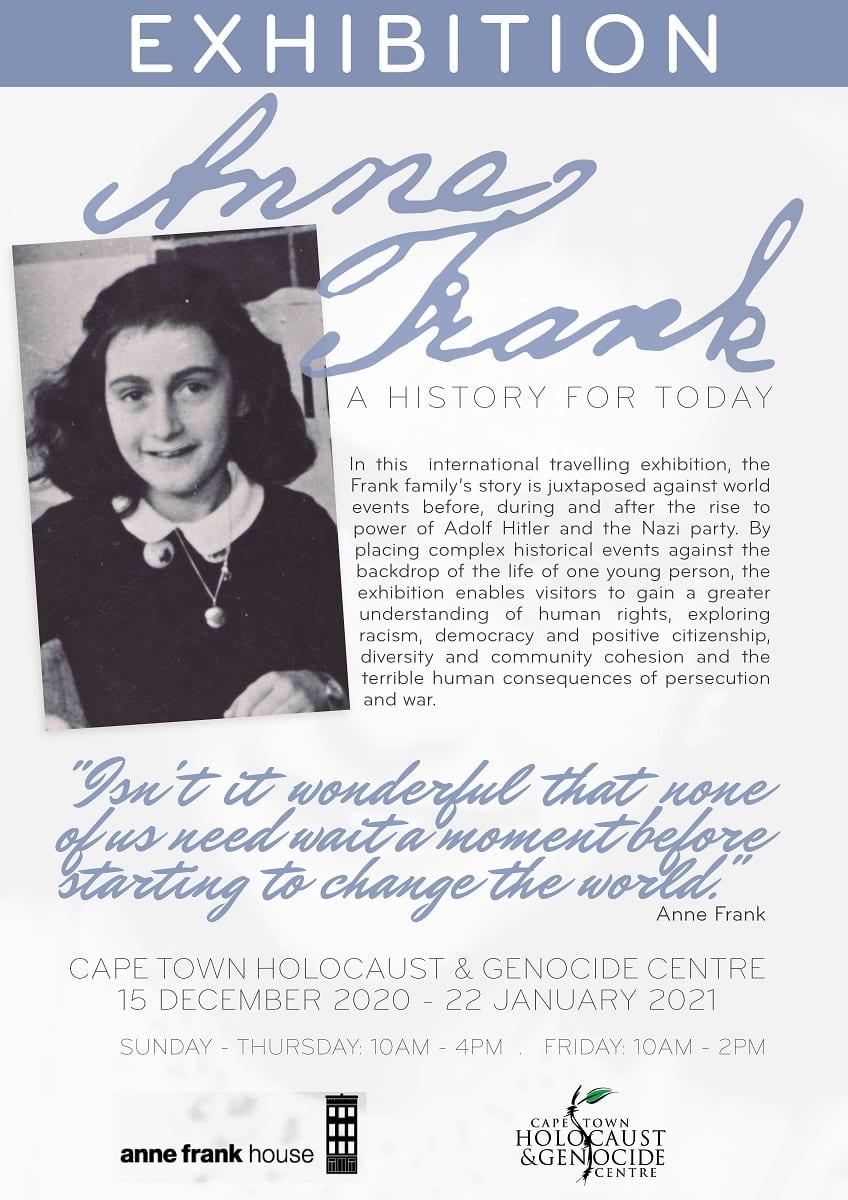 Ann Frank Exhibition CTHGC